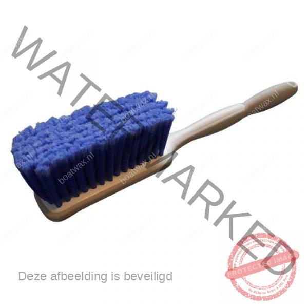 wasborstel met lange steel blauw
